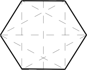 Hexagon clipart black and white Clker clip Hexagon Clip online
