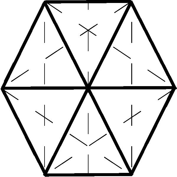 Hexagon clipart black and white Vector online Hexagon at Hexagon