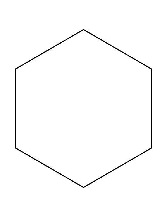 Hexagon clipart black and white Pattern  outline creating Color