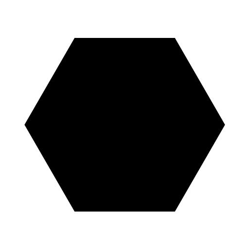 Hexagon clipart black and white Free feffecr library Clipart Black