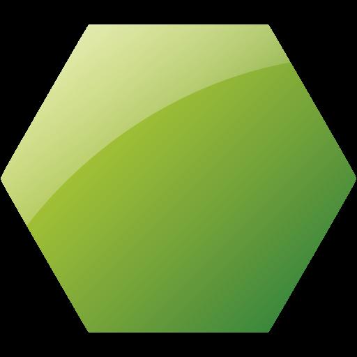 Hexagon clipart green Web hexagon icon icons green