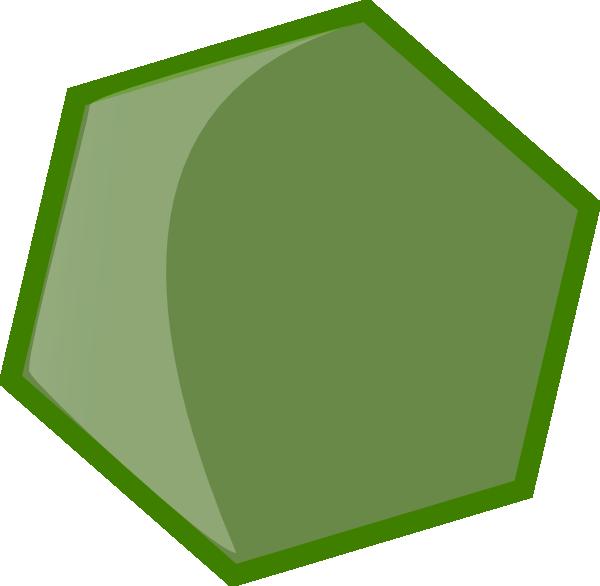 Hexagon clipart green Vector as: Clker  Art