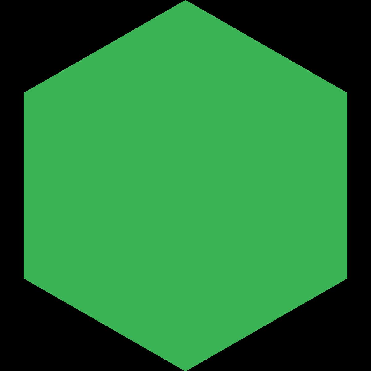 Hexagon clipart green Design Dat svg Download