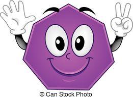 Hexagon clipart heptagon Heptagon  and Mascot Illustration