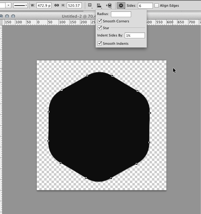 Hexagon clipart rounded Photoshop in Create Corner Rounded