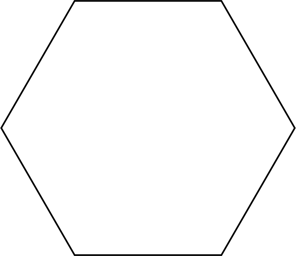 Hexagon clipart transparent File:Hexagon Wikimedia svg svg Commons