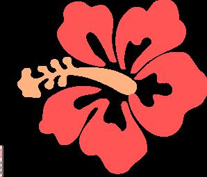 Hibiscus clipart Clip Coral Hibiscus com clip