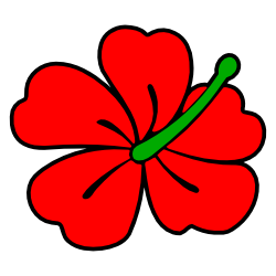 Hibiscus clipart Free Red and Art Themed