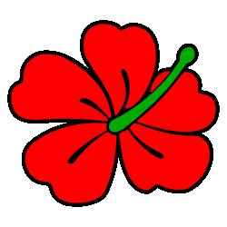 Red clipart gumamela #11