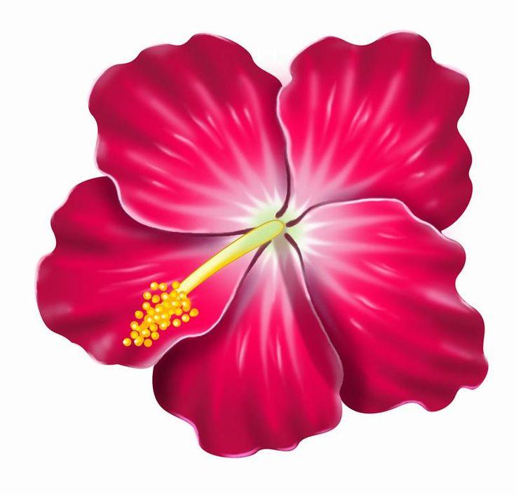 Pink Flower clipart hawaiian flower Search art hibiscus flower images