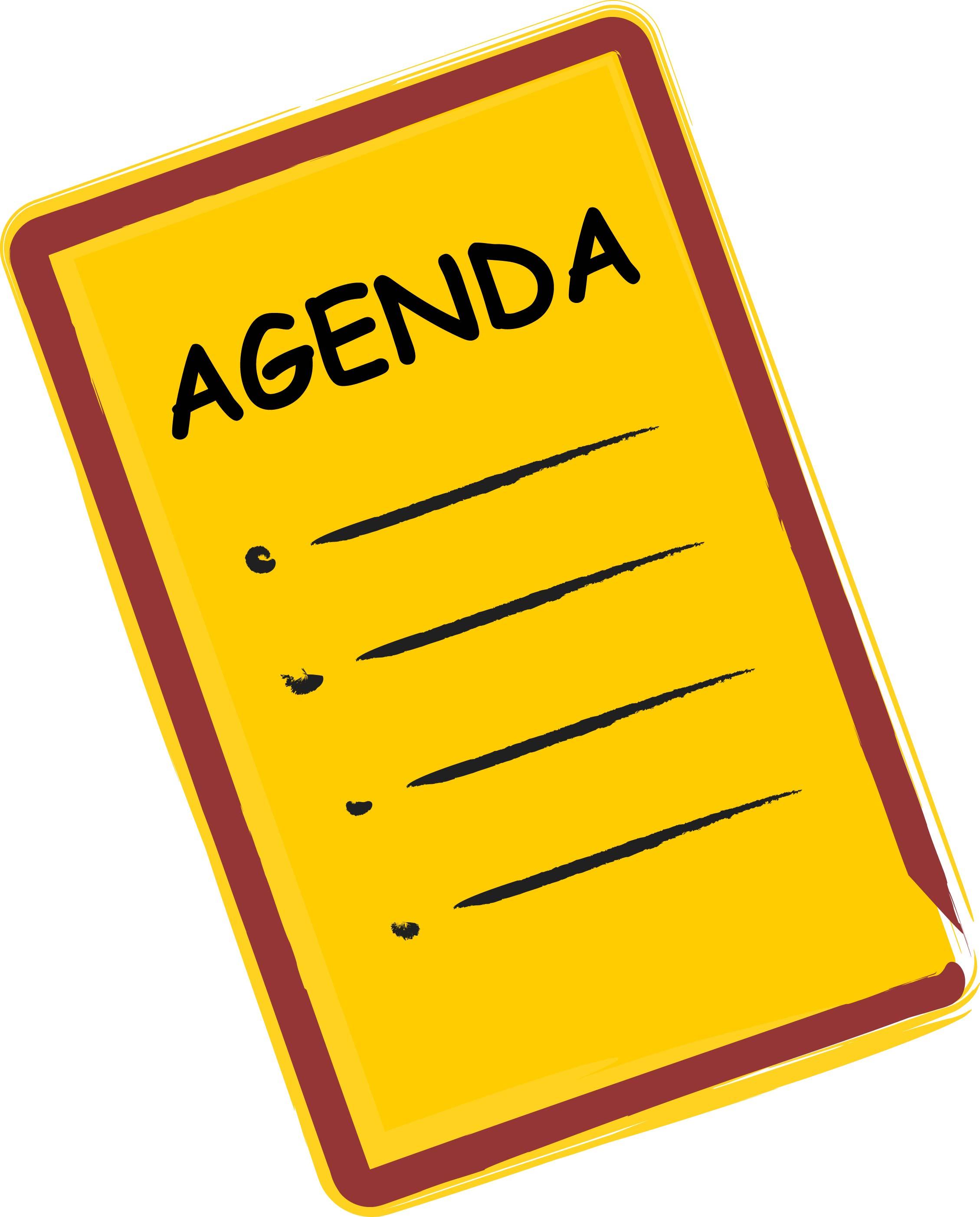 Notice clipart agenda Meeting Cliparts Zone Clipart Agenda