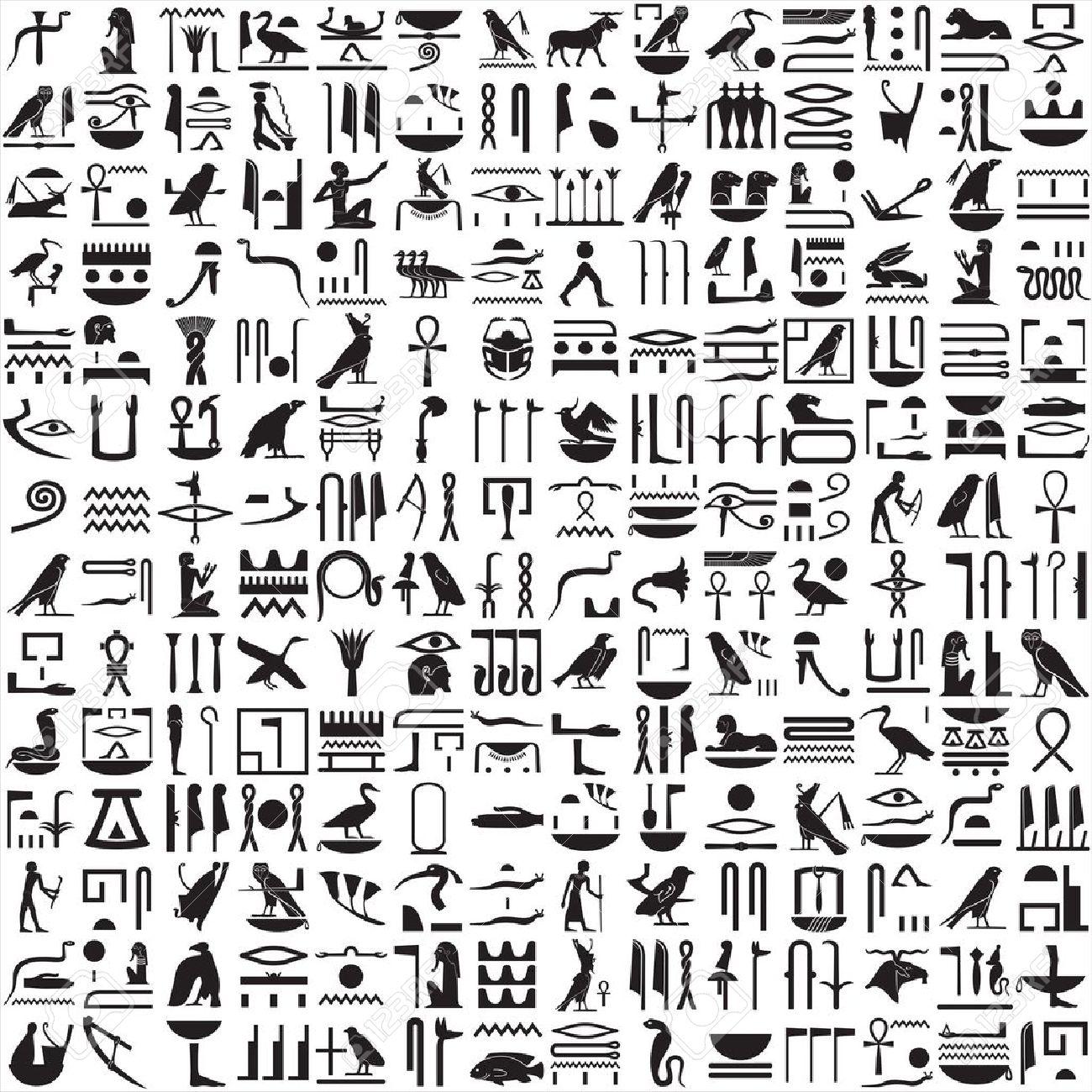 Hieroglyphs clipart Ancient Hieroglyphics graphics art Hieroglyphics