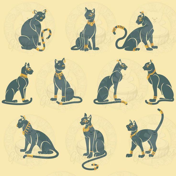 Hieroglyphs clipart egyptian cat #2