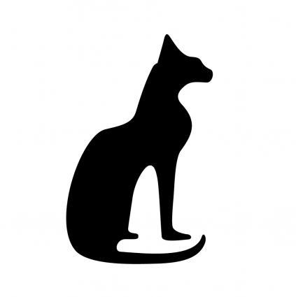 Hieroglyphs clipart egyptian cat #10