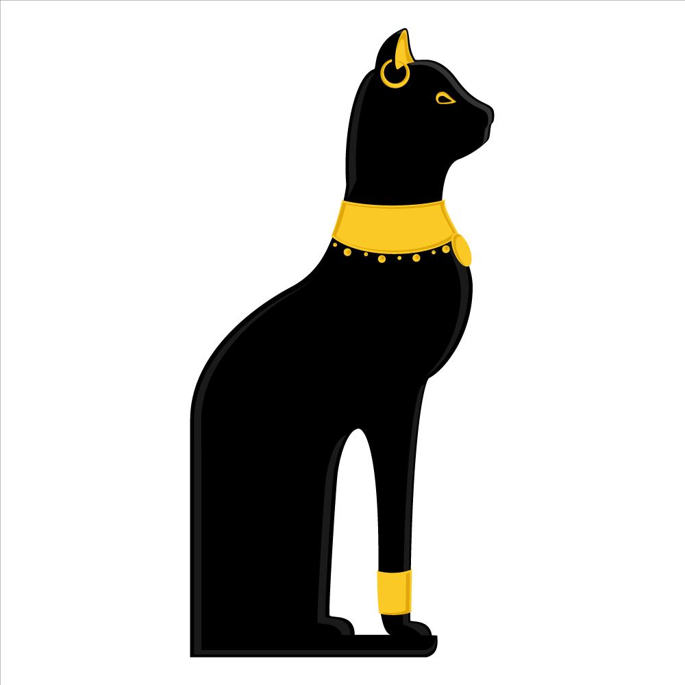 Hieroglyphs clipart egyptian cat #1