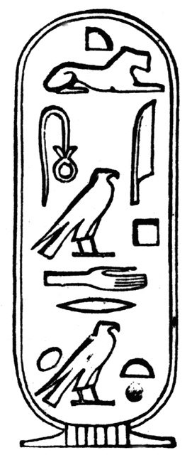 Hieroglyphs clipart real The Cartouche British Rosetta The