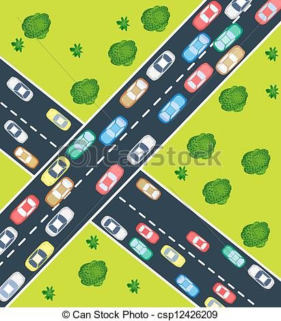 Highway clipart traffic jam Illustrations Illustrations Clipart Highway Highway