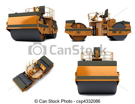 Highway clipart asphalt paving Isolated machine Illustrations 727