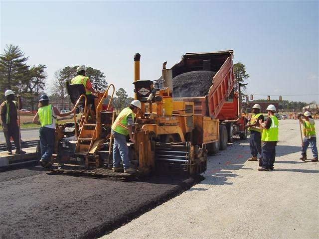 Highway clipart asphalt paving Declines production (VDOT) quarry Free