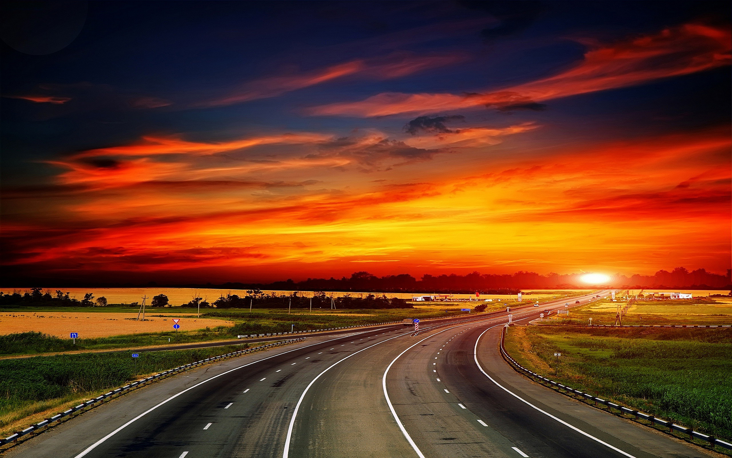 Freeway clipart roadway #6895868 Backgrounds Highway Sunset Highway