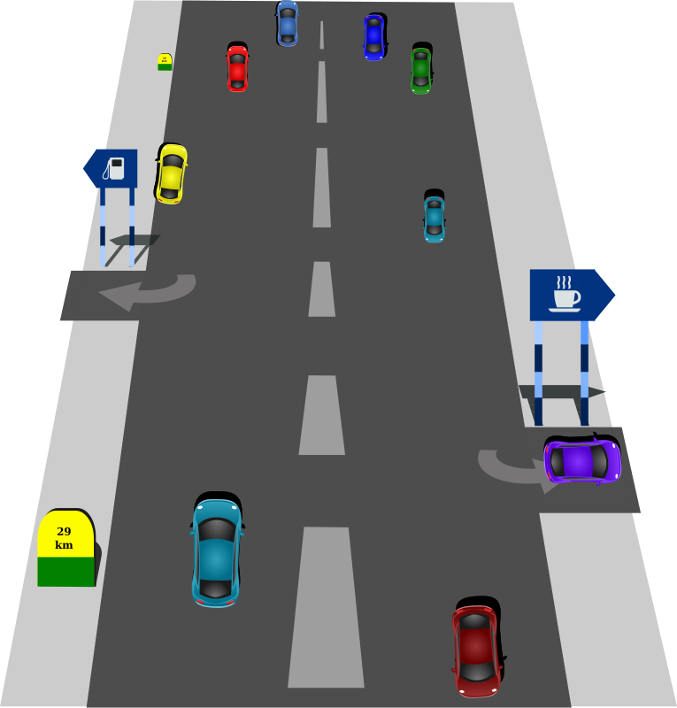 Freeway clipart road top view Clip Clip Art Highway Clipart