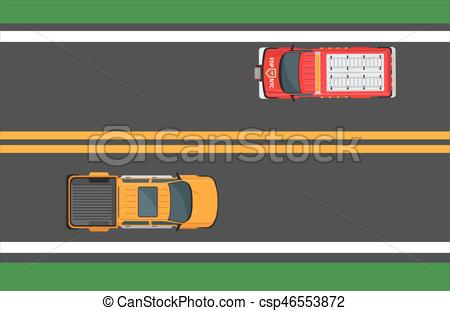 Highway clipart city traffic With of City csp46553872 Illustration