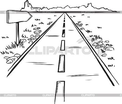Highway clipart distance #9