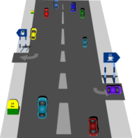 Highway clipart distance #8