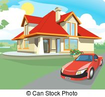 Hosue clipart driveway Royalty car Art 440 1