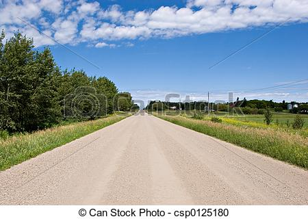 Highway clipart gravel road Road csp0125180 of Road Gravel