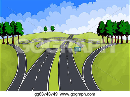 Highway clipart horizon Art Highway Clipart vector with