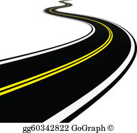 Highway clipart horizon Road or Clipart vector icon