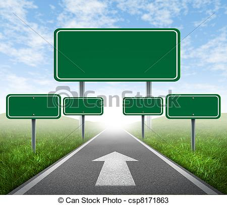Highway clipart journey Green a Stock  Journey