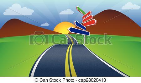 Highway clipart journey Journey Art art Vector vector