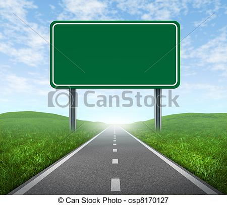Highway clipart logo Csp8170127 blank with sign of