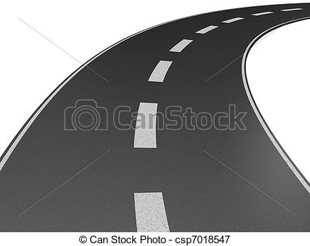 Highway clipart long road Road long Stock  a