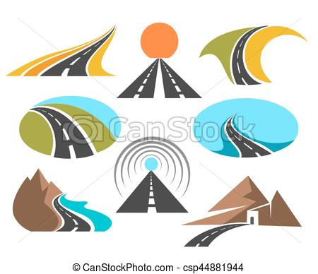Highway clipart pathway Of design  EPS for