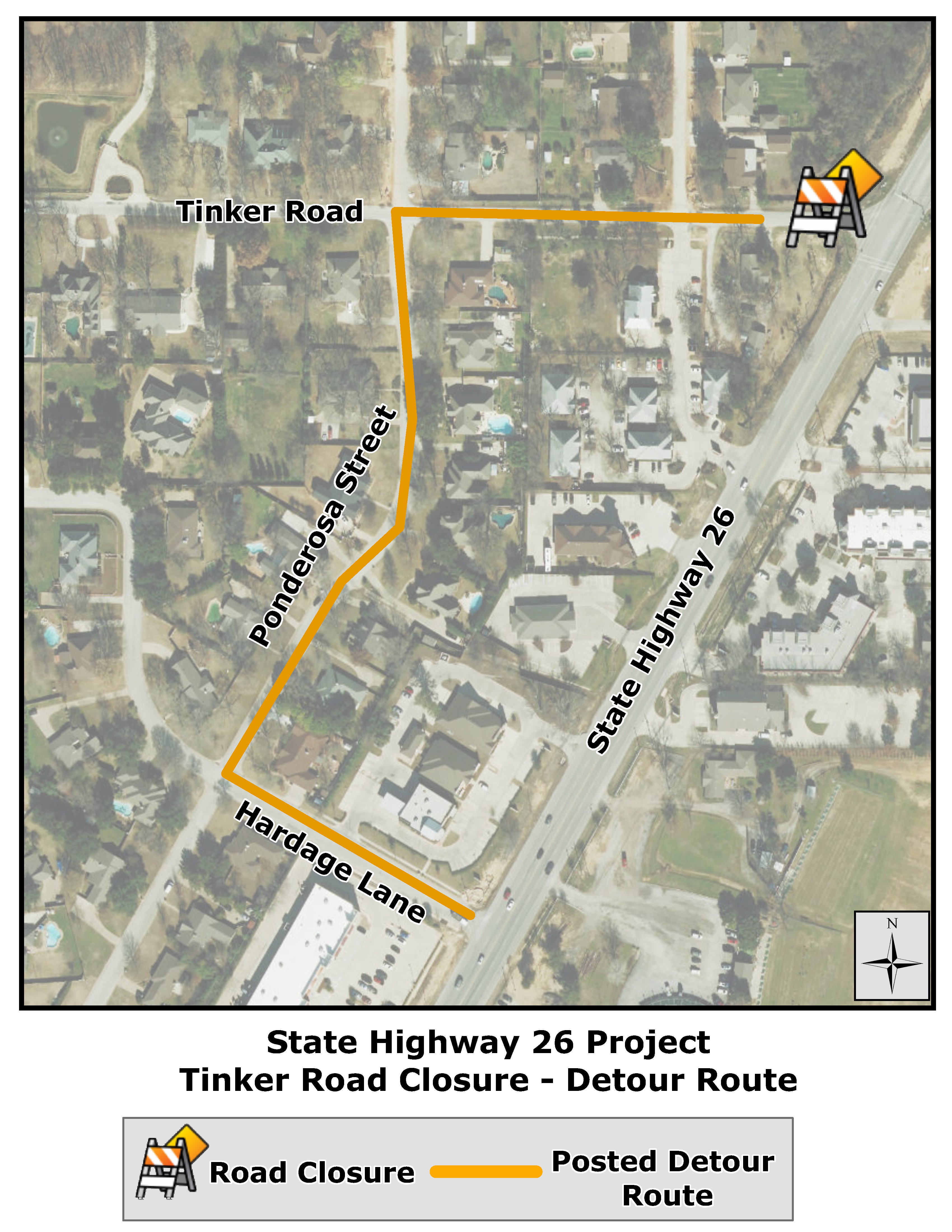 Highway clipart roadway Of Colleyville Project Closure City