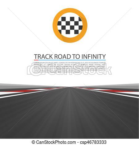 Highway clipart speedway Vector infinity vector highway Track