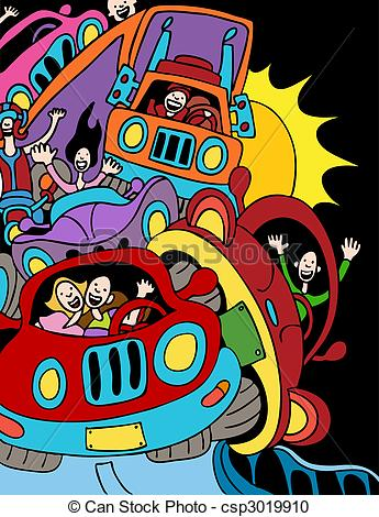 Highway clipart traffic jam Driving csp3019910 on of Jam