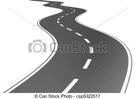 Asphalt clipart zigzag road A of Road Road of