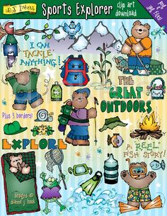 Hiking clipart adventure sport Adventure and DJ  by