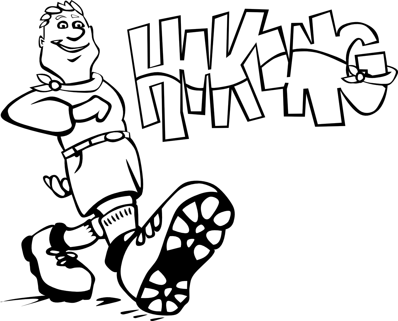 Hiking clipart black and white Clipart And Clipart Images Free