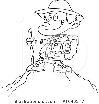 Hiking clipart black and white #1046377 Clipart (RF) Clipart toonaday