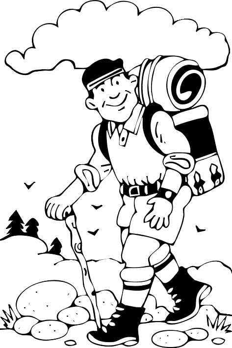 Hiking clipart black and white Free School and and School