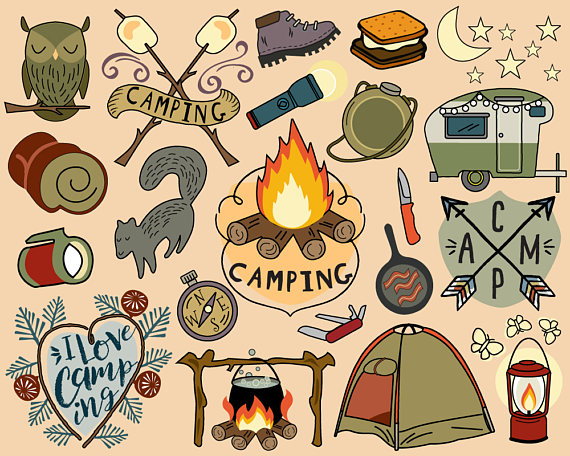 Hiking clipart camp food #14
