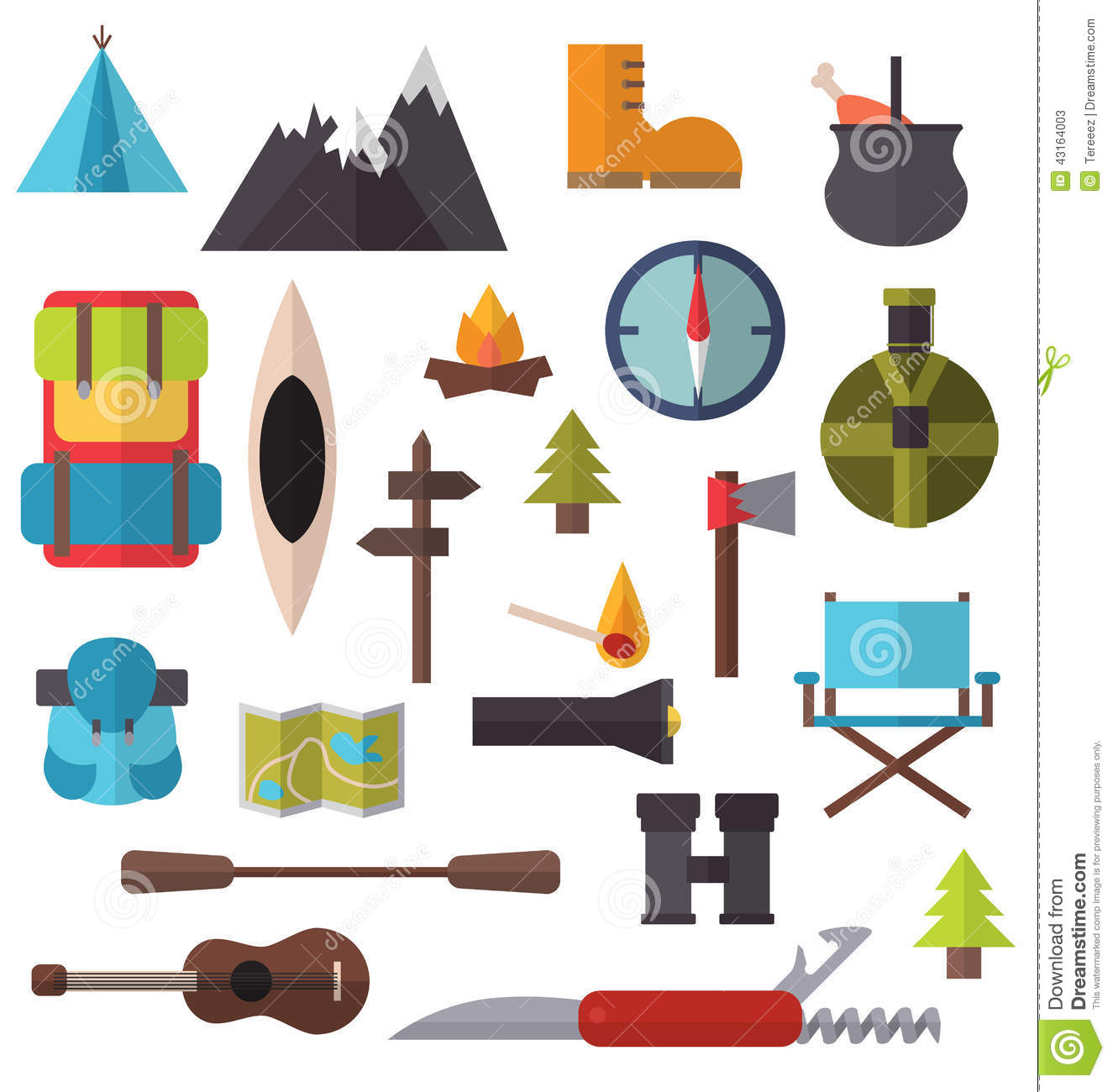 Hiking clipart camping gear Art Clip gear Equipment Hiking