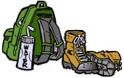 Hiking clipart camping gear Camping Free Hiking gear and