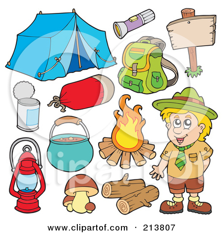 Hiking clipart camping gear A Of And Collage Camper