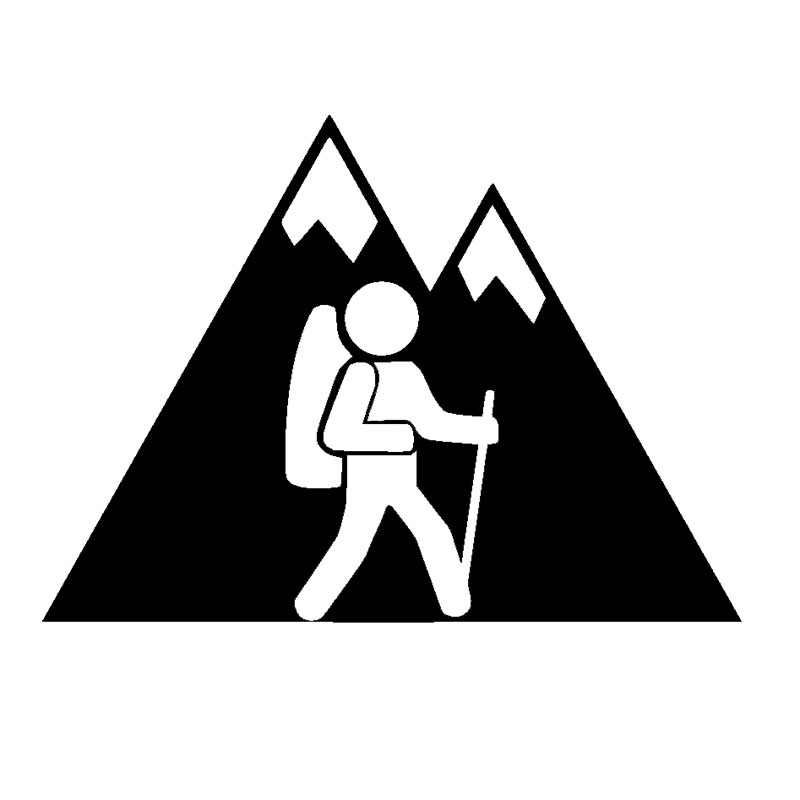 Hiking clipart family hike Hike Stickers Popular Stickers Decal